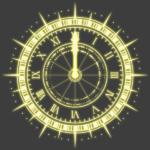 トゲトゲ時計イラスト素材