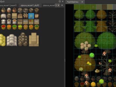Tiledでタイルセット画像を並び替えたりパーツ合成する方法